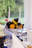 Festive table setting. For wedding Royalty Free Stock Images