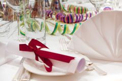 Festive table setting Royalty Free Stock Photography
