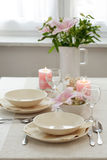 Festive table setting. For wedding or other event Stock Image
