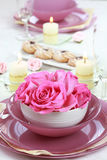 Festive table setting. For wedding or other event Stock Photography