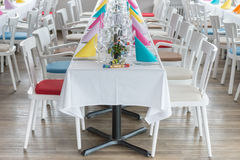 Festive table setting banquet hall Royalty Free Stock Photo
