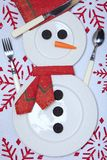 Festive table setting for christmas Royalty Free Stock Image