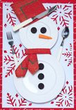 Festive table setting for christmas Stock Photo