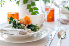 Festive table setting Royalty Free Stock Image
