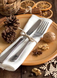 Festive table setting with spices Stock Image