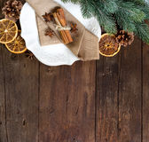 Festive table setting with spices Royalty Free Stock Image