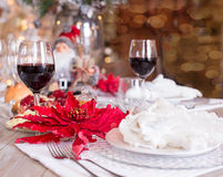 Festive table setting, table setting Royalty Free Stock Photography