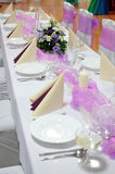 Festive table setting table Royalty Free Stock Image