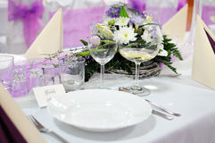 Festive table setting table Stock Photos