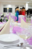 Festive table setting table Royalty Free Stock Images