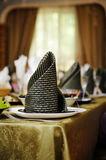 Festive table setting for wedding party Royalty Free Stock Image