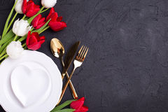 Festive  table setting. Royalty Free Stock Images