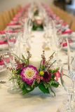 Festive table settings Royalty Free Stock Photography