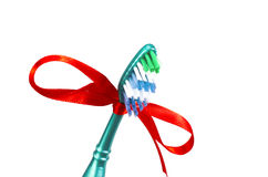 Festive toothbrush Royalty Free Stock Photo