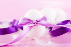 Festive traditional easter egg decoration purple Stock Images