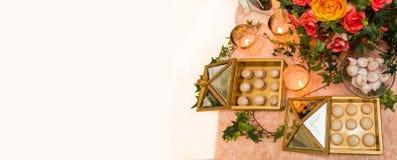 Festive treats background Royalty Free Stock Photo