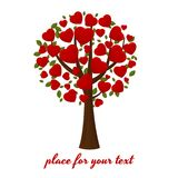 Festive tree with hearts Stock Images