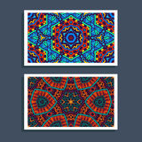 Festive Tribal colorful ornamental ethnic banner. Ethnic festive colorful pattern card. Tribal art print. Colorful border background texture. Fabric, cloth Royalty Free Stock Images