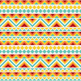 Festive Tribal Seamless Pattern. Repeatable geometric pattern in bright cheerful colors. Tribal background ornament Royalty Free Stock Photos