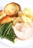 Festive turkey dinner Stock Photos