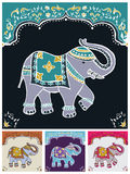 Festive typical indian elephant. Traditional indian elephant decorated for special occasion background set. Vector file available Royalty Free Stock Photography