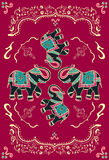 Festive typical indian elephant. Traditional indian elephant decorated for special occasion background. Vector file available Royalty Free Stock Photos