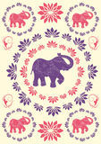 Festive typical indian elephant background Royalty Free Stock Photos