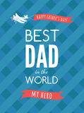 Festive typographical  retro style greeting card for father's da Stock Photos