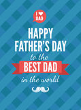 Festive typographical  retro style greeting card for father's da Stock Image
