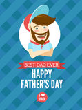 Festive typographical  retro style greeting card for father's da Stock Photography