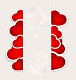 Festive Valentine's Day with hearts. Background to a festive Valentine's Day with hearts for the paper Stock Photos