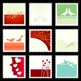 Festive The Valentine's Stamps Stock Images