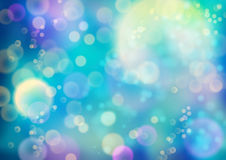 Festive Vector Background. Festive vector abstract background with bokeh defocused lights Stock Photo