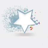 Festive vector background with star Stock Photography