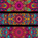 Festive vector ethnic banner set Stock Image
