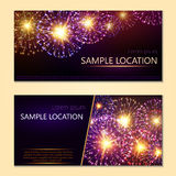 Festive vector fireworks and the location of the text Royalty Free Stock Image