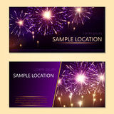 Festive vector fireworks and the location of the text Royalty Free Stock Images