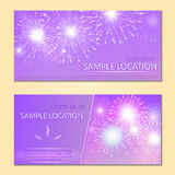 Festive vector fireworks and the location of the text Stock Photo