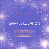 Festive vector fireworks and the location of the text. Festive fireworks with sample text Stock Photography