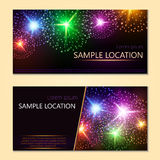 Festive vector fireworks and the location of the text. Festive fireworks with sample text Stock Image