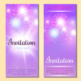 Festive vector fireworks and the location of the text. Festive fireworks with sample text Stock Photo