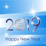 Vector 2019 Happy New Year background stock illustration