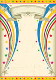Festive vintage poster. A vintage multicolor poster for your party Royalty Free Stock Image