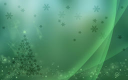 Festive Wallpaper. A Christmas Themed Wallpaper with Tree and Snowflakes Royalty Free Stock Photo