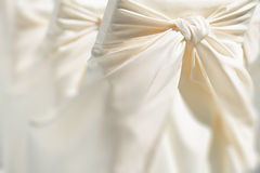 Festive wedding chair decoration Royalty Free Stock Photos