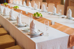 Festive wedding table in a restaurant Stock Photography