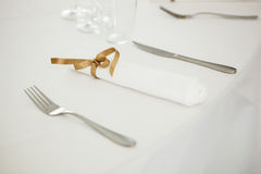 Festive wedding table setting Royalty Free Stock Image