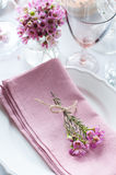 Festive wedding table setting Stock Images