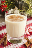 Festive White EggNog Royalty Free Stock Image