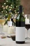 Festive wine shot Royalty Free Stock Image
